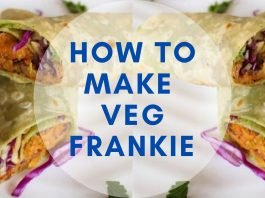 How to make veg frankie at home
