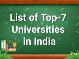List of Top-7 Universities in India